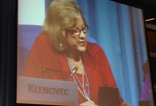 Architektin Monika Klenovec als Sprecherin der Konferenz