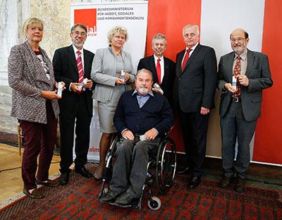 Die Jurymitglieder des WINTEC-Preises 2015 mit BM Hundstorfer, ganz links DI Architektin Monika Klenovec.